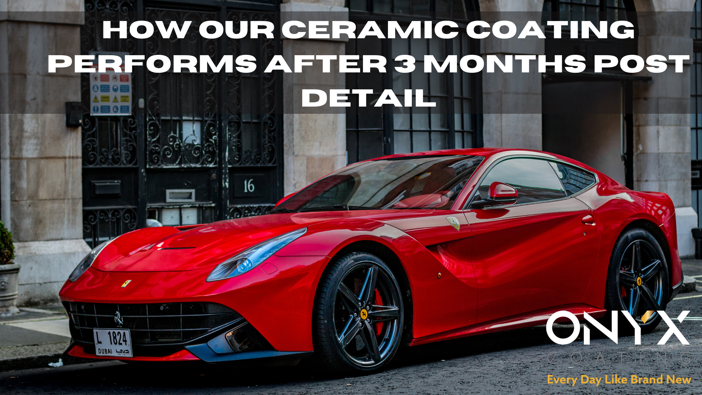 How our Ceramic Coating performs after 3 months post detail